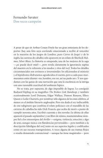 Fernando Savater Dos veces campeón