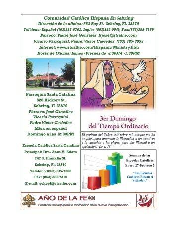 Comunidad Católica Hispana En Sebring - St. Catherine Catholic ...