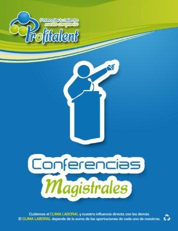 Catálogo de conferencias - Profitalent, SC