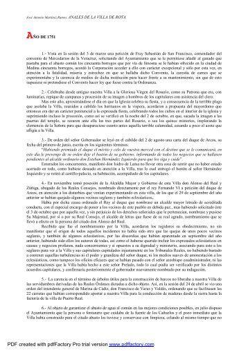 AÑO DE 1751 1. - Ayuntamiento de Rota