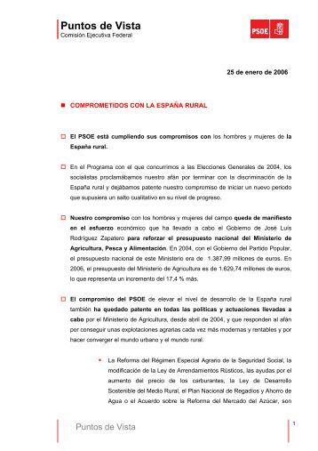 Puntos de Vista 25-1-2006 (COMPROMETIDOS CON - PSOE
