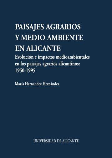 paisajes agrarios y medio ambiente en alicante - Publicaciones de ...