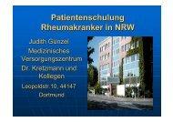Patientenschulung Rheumakranker in NRW - Rheumazentrum ...