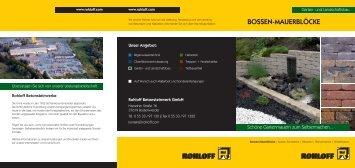 BOSSEN-MAUERBLÖCKE - Betonsteinwerk Rohloff GmbH