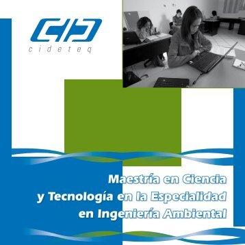 Maestría en Ciencia y Tecnología en la Especialidad en Ingeniería Ambiental