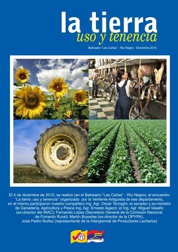 la tierra uso y tenencia - Vertiente Artiguista