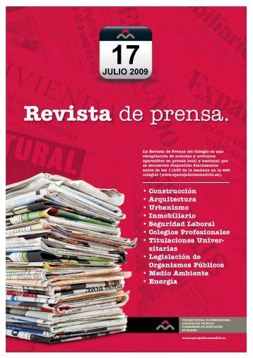 Revista de Prensa - Aparejadores de Madrid