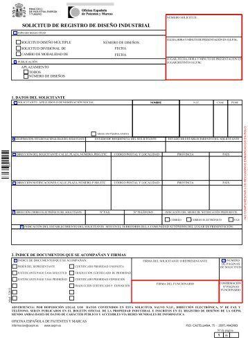 Inst ncia general instancia general sr alboraya for Oficina patentes y marcas