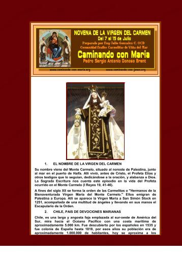 NOVENA VIRGEN CARMEN - INTRODUCCION