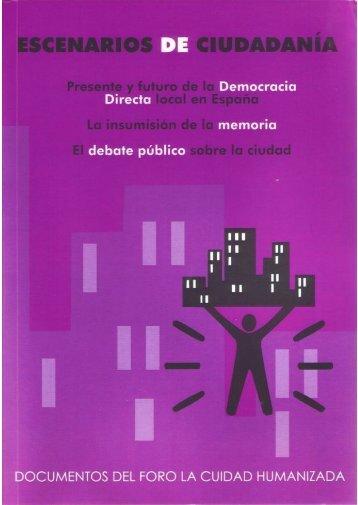 Escenarios de Ciudadanía - La Ciudad Humanizada