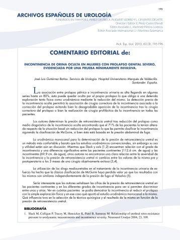 COMENTARIO EDITORIAL de: - SciELO España