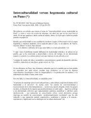 Perú: educación, interculturalidad y buen gobierno