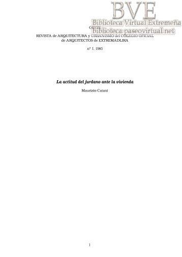 3) La actitud del jurdano ante la vivienda; (70 Kb) - Paseo Virtual por ...