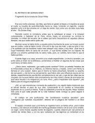 EL RETRATO DE DORIAN GRAY Fragmento de la novela de Oscar ...