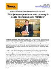 Entrevista con Francisco Pérez González, Director ... - fesitel