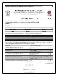 solicitud de aceptacin de modalidad de titulacin - Universidad de ...