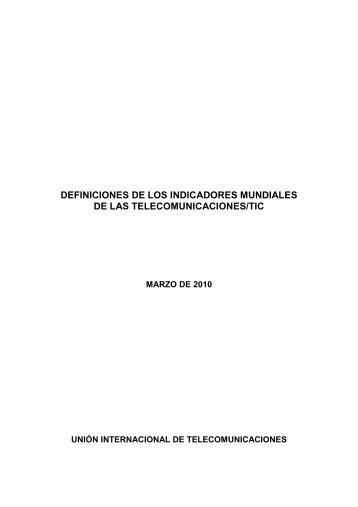 DEFINICIONES DE LOS INDICADORES MUNDIALES DE LAS ...
