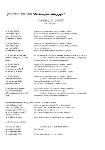 Canciones para cantar y jugar - CEP Azahar