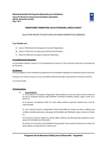 MONITOREO TRIMESTRAL DE ACTIVIDADES y RESULTADOS