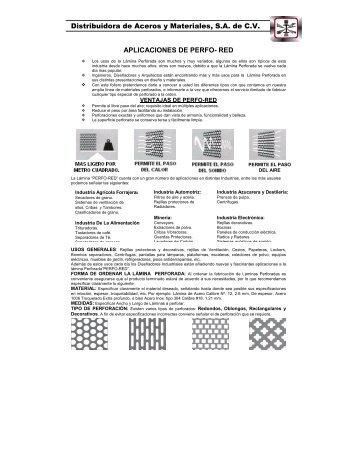 Descargar Ficha tecnica (.pdf) - Distribuidora de Aceros y Materiales ...