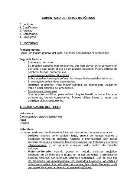 Estructura Comentario De Texto Pdf