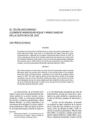 10-MOLINA_El telón_.. - Revista de Ciencias Sociales - Universidad ...