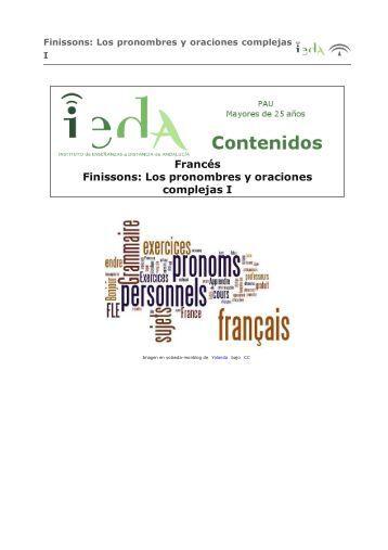 Francés Finissons: Los pronombres y oraciones complejas I - Agrega