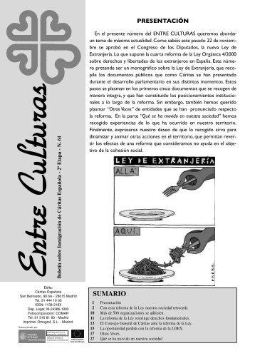 Nº 61 Entreculturas (pdf) - Cáritas Diocesana de Zaragoza