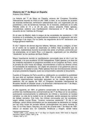 Historia del 1º de Mayo en España - Mundo Obrero