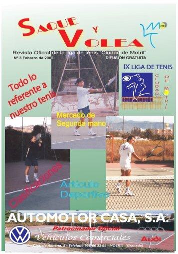 Revista nº 3 de la liga 2001 - Club de tenis Saque Volea Motril