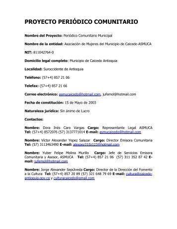 PROYECTO PERIÓDICO COMUNITARIO - Caicedo