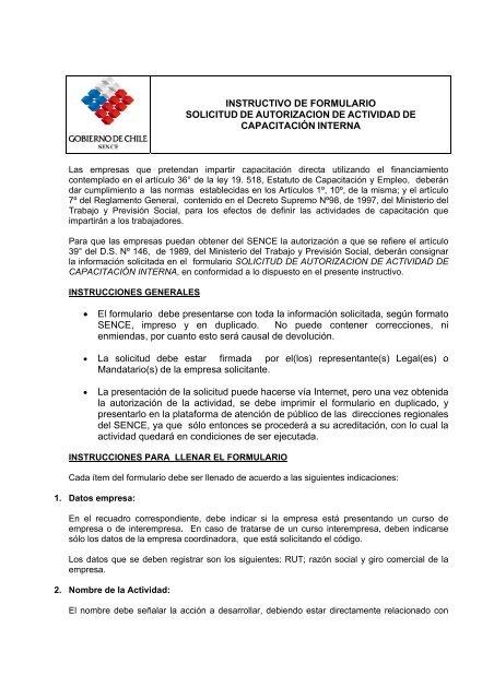 Instructivo De Formulario Solicitud De Autorizacion