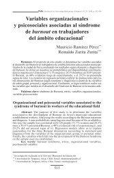 Variables organizacionales y psicosociales asociadas al ... - SciELO