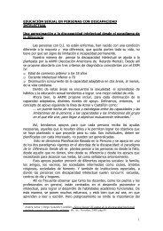 educación sexual en personas con discapacidad intelectual - Itineris