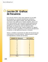 Lección 20: Gráficas de frecuencia - Conevyt