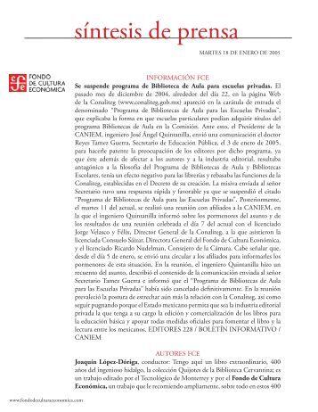 Resumen de prensa.indd - Fondo de Cultura Económica