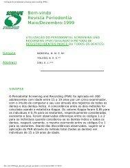 Utilização do periodontal screening and ... - Revista Sobrape
