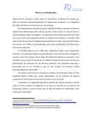 Mexico y sus desplazados - Internal Displacement Monitoring Centre