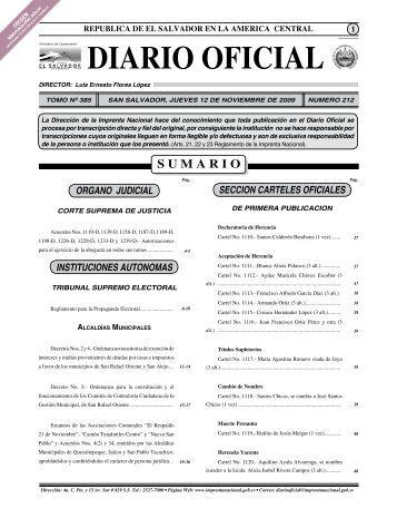 Diario oficial - Tribunal Supremo Electoral
