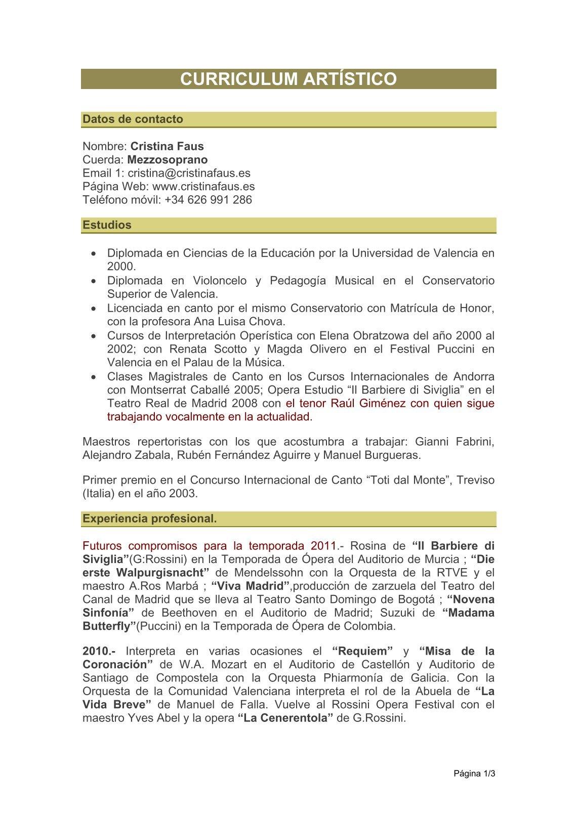 Lujo Currículum De Maestros Ilustración - Ejemplo De Currículum ...