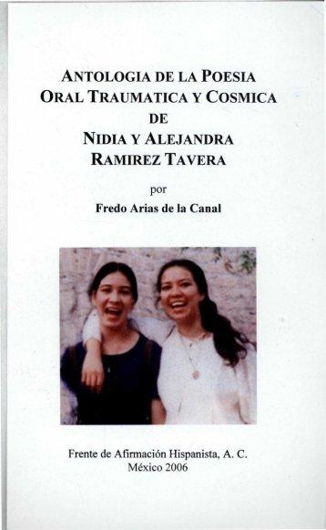 antologia de la poesia oral traumatica y cosmica de nidia y ...