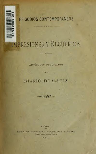 Impresiones Y Recuerdos Artículos Publicados En El Diario