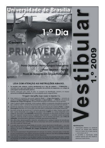 Caderno PRIMAVERA - CESPE / UnB
