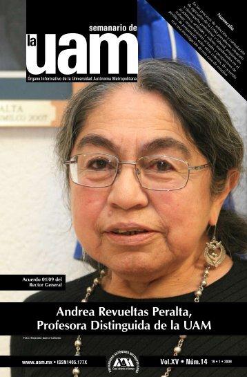 Andrea Revueltas Peralta, Profesora Distinguida de la UAM
