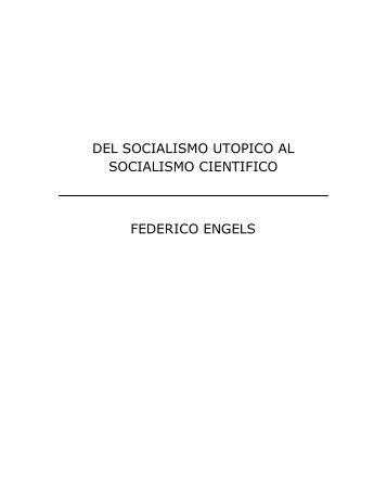 Del socialismo utópico al socialismo científico - Educando