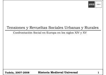 Tensiones y Revueltas Sociales Urbanas y Rurales