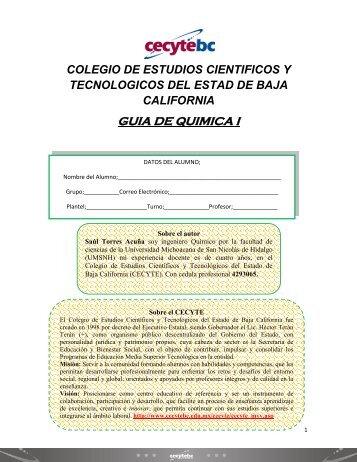 Guia de quimica I - Cecyte