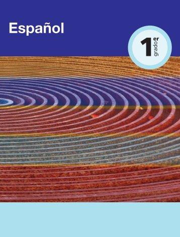 Español. Primer grado - Dirección de Educación Especial