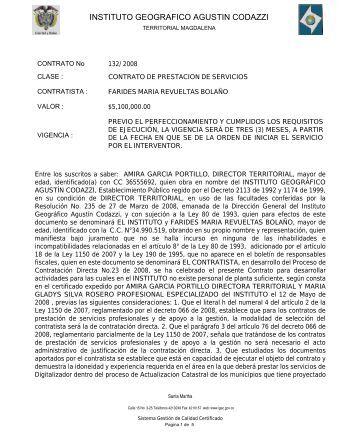 instituto geografico agustin codazzi - Portal Único de Contratación