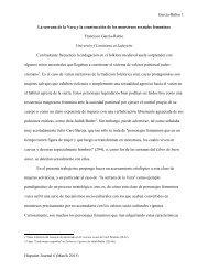 Monstruos sexuales femeninos de las sierras ... - Hispanet Journal